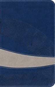 ESV Large Print Compact Bible Trutone Navy/Taupe Curve