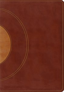 ESV Study Bible Walnut Taupe Core Design