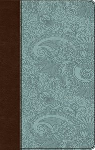 ESV Ultrathin Bible Trutone Chocolate/Blue Garden Design (Black Letter Edition)
