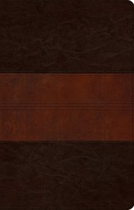 ESV Ultrathin Bible Trutone Deep Brown/Tan Trail Design (Black Letter Edition)
