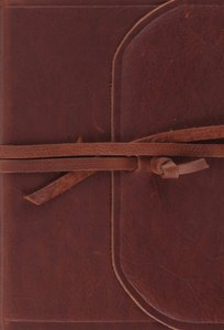 ESV Large Print Compact Bible Flap With Strap (Red Letter Edition)