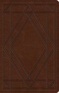 ESV Ultrathin Bible Trutone Chestnut Wood Panel Design (Black Letter Edition)