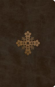 ESV Ultrathin Bible Trutone Olive Floral Cross Design (Black Letter Edition)