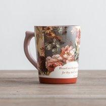 Classic Mug: Floral Blue, Matthew 5:8