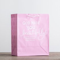 Value Gift Bag Large: Light Baby Pink (Psalm 139:14 Niv)