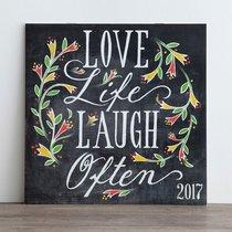 2017 Wall Calendar: Love Life Laugh Often