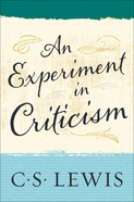 An Experiment in Criticism eBook