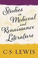 Studies in Medieval and Renaissance Literature eBook