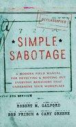 Simple Sabotage Hardback