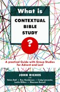 What is Contextual Bible Study? eBook