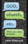 God, Church, Etc. eBook