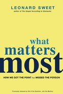 What Matters Most eBook