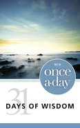 NIV Once-A-Day 31 Days of Wisdom eBook