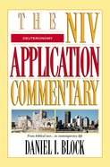 Deuteronomy (Niv Application Commentary Series) eBook