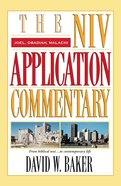 Joel/Obadiah/Malachi (Niv Application Commentary Series) eBook