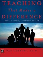 Teaching That Makes a Difference eBook