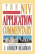 Jeremiah/Lamentations (Niv Application Commentary Series)