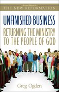 Unfinished Business: Returning the Ministry to the People of God eBook