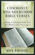 Commonly Misunderstood Bible Verses eBook