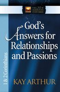 God's Answers For Relationships and Passions (1&2 Cor) (New Inductive Study Series) eBook