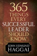 365 Things Every Successful Leader Should Know eBook