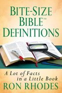 Bite-Size Bible Definitions eBook