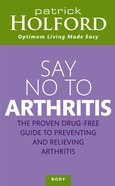 Say No to Arthritis eBook