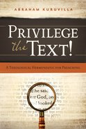 Privilege the Text! eBook