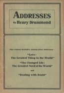 Addresses By Henry Drummond eBook