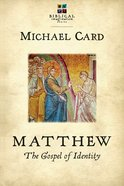 Matthew: The Gospel of Identity (Biblical Imagination Series) eBook