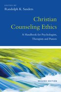 Christian Counseling Ethics eBook