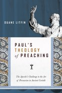 Paul's Theology of Preaching eBook