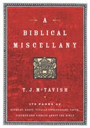 A Biblical Miscellany eBook