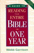 A Guide to Reading the Entire Bible in One Year eBook