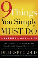 9 Things You Simply Must Do to Succeed in Love and Life eBook