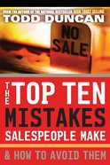 The Top Ten Mistakes Salespeople Make & How to Avoid Them eBook