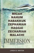 Micah, Nahum, Habakkuk, Zephaniah, Haggai, Zechariah, Malachi (Immersion Bible Study Series) eBook