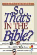 So That's in the Bible? eBook