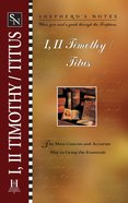 1 & 2 Timothy, Titus (Shepherd's Notes Series) eBook