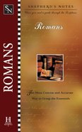 Romans (Shepherd's Notes Series) eBook