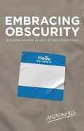 Embracing Obscurity eBook