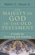 The Majesty of God in the Old Testament eBook