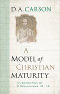 A Model of Christian Maturity eBook