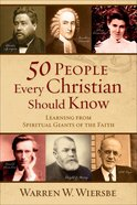 50 People Every Christian Should Know eBook