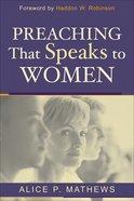 Preaching That Speaks to Women eBook
