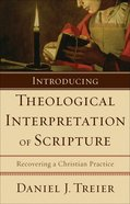 Introducing Theological Interpretation of Scripture eBook