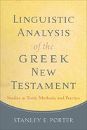 Linguistic Analysis of the Greek New Testament eBook
