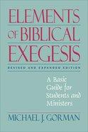 Elements of Biblical Exegesis eBook