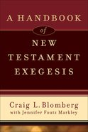 A Handbook of New Testament Exegesis eBook