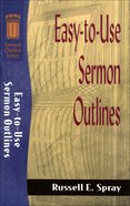 Sos: Easy to Use Sermon Outlines (Sermon Outline Series) eBook